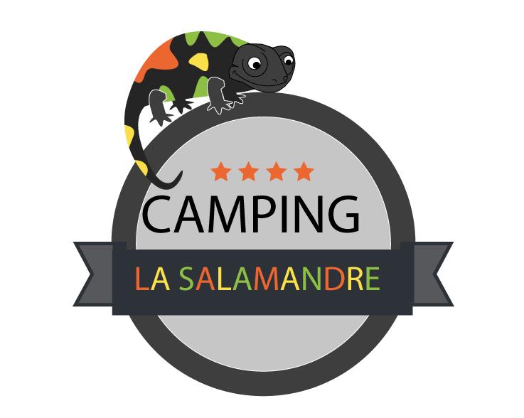 logo camping salamandre en couleurs