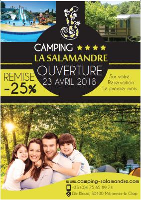 camping salamandre affiche
