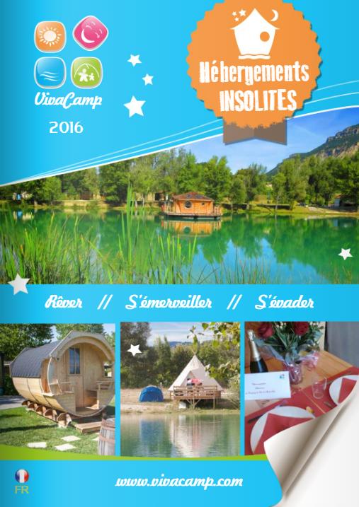 brochure hébergements insolite - vivacamp